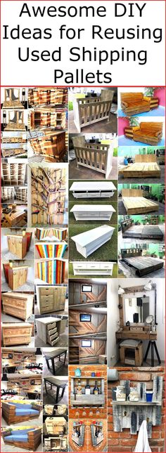 We are aware of the fact that there are people who search for the awesome DIY ideas for reusing the shipping pallets and we help them by collecting the ideas which they can easily copy. None of the wood pallet made items is difficult to copy because the pallets are easy to modify, they can be cut into any shape and style according to the requirement. They are best as a reusing material because they don't get damaged when once used for the main purpose, they are as strong for creating a…