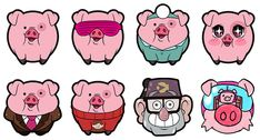 """Lots of lots of Waddles"""" Gravity Falls Personajes, Gravity Falls Waddles, Pig Character, Desenhos Gravity Falls, Grabity Falls, Iphone Wallpaper Fall, Funny Pigs, Mabel Pines, Doodles"""