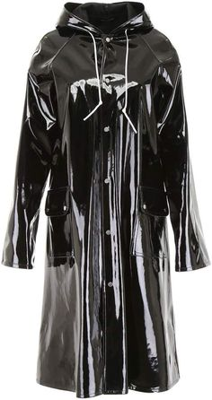 Shop Rokh Vinyl Raincoat and save up to EXPRESS international shipping! Vinyl Raincoat, Pvc Raincoat, Rain Fashion, Girls Raincoat, Latex Wear, Vinyl Clothing, Country Wear, Pvc Coat, Raincoats For Women
