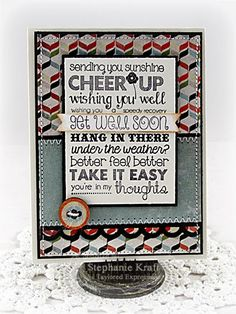 Get Well Soon Card by Stephanie Kraft #GetWell, #Cardmaking, #GraphicGreetings