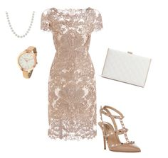 """Gold"" by carlacbr ❤ liked on Polyvore featuring Michael Kors, Valentino, GUESS by Marciano, gold, pearls and goldjewelry"