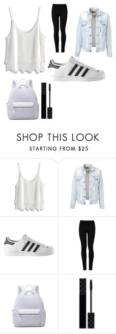 """""""School time"""" by grandesdw ❤ liked on Polyvore featuring Chicwish, adidas, Wolford and Gucci"""
