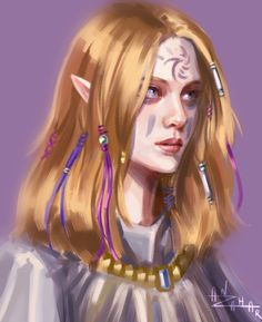 f High Elf Druid Robes portrait hills deciduous forest community med Dnd Characters, Fantasy Characters, Female Characters, Elfa, Fantasy Portraits, Character Portraits, Fantasy Rpg, Fantasy Girl, Forest Tumblr