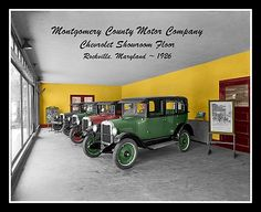 Chevrolet Dealership Colorized Photo - 1926 Rockville Maryland Chevy - $5.95