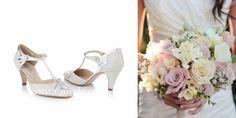 Zapatos y ramo de novia vintage. www.egovolo.com