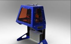The B9Creator is a 3D Printer that can create objects on a much smaller and finer scale than other 3D printers. It uses photosensitive resin instead of Fused Deposition Modeling to print its objects.