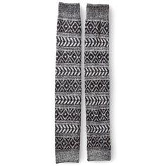 Women's Leg Warmers Grey Striped - Xhilaration®