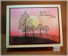 Crafting The Web: The Northwoods THURSDAY, FEBRUARY 28, 2013 Woodsy Pink Sunset Tutorial and Invitation