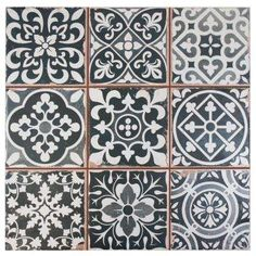 Faenza Nero 13 in. x 13 in. Ceramic Floor and Wall Tile (12.2 sq. ft. / case)