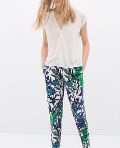 ZARA - COLLECTION AW14 - PRINTED TROUSERS