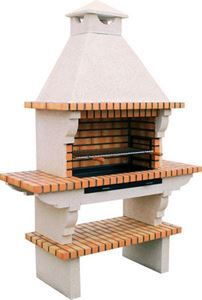 Brick BBQ with chimney 114 ( click to expand )