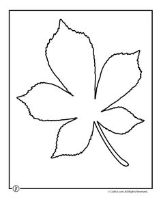 Leaf Template Printables Chestnut Tree Leaf Pattern – Craft Jr.