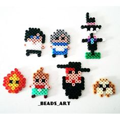 Howl's Moving Castle characters perler beads by _beads_art