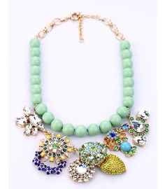Multi Crystal Jewelry Bib Luxury Necklace
