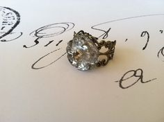 Vintage Button Ring by StunningByDesign on Etsy,