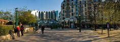 Paris 1er - Panoramique de l'allée Saint John Perse, rue Berger et jardin des Halles