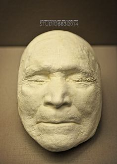 Death Mask of Sitting Bull.  http://www.biography.com/people/sitting-bull-9485326  Arguably the most powerful and perhaps famous of all Native American chiefs.