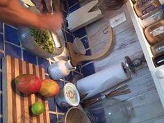 http://www.livefoodexperience.com presents Mango Okra Salad, raw delicious and kinda slimy