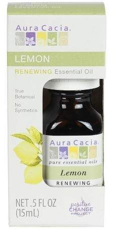 Aura Cacia Lemon Essential Oil Boxed - .5oz