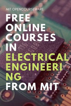 computer technology To Get is part of What Is Computer Technology Quora - Electrical Engineering and Computer Science Free course materials from MIT Online Courses Open Learning Classroom Resources Engineering Courses, Engineering Projects, Electronic Engineering, Engineering Technology, Electrical Engineering Books, Engineering Humor, Electrical Projects, Pi Projects, Teaching Technology