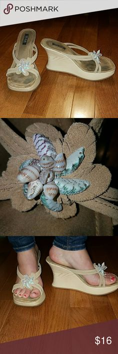 Seashell Wedges Perfect for summer and spring break. Extremely comfortable. Splash Shoes Wedges