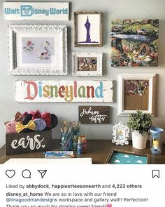 Disney wall, work area!