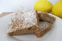 Coconut Lemon Bars Recipe photo- need to try this recipe ASAP! I wonder if I can grind my own coconut flour? Lemon Coconut Bars, Raw Coconut, Coconut Recipes, Lemon Bars, Coconut Flour, Coconut Water, Paleo Dessert, Dessert Bars, All You Need Is