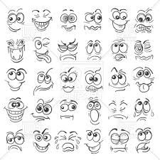 Hand Drawn Doodle Cartoon Faces Emotion Set by Cartoon face Emotion set. Various facial expressions in doodle style isolated on white.Zip file: Editable AI EPS 10 and high r Cartoon Faces Expressions, Funny Cartoon Faces, Drawing Cartoon Faces, Doodle Cartoon, Drawing Eyes, Cartoon Cartoon, Funny Cartoons, Cartoon Smile, Cartoon People