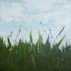 How to paint a grass field with acrylic paint | Melissa McKinnon: Artist