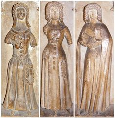 Selection of female weepers from effigy of Thomas Beauchamp and Katherine Mortimer, St. Mary's, Warwick, England, c. 1369.