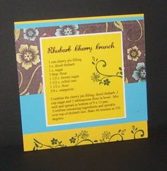 Recipe Card by stefstamps - Cards and Paper Crafts at Splitcoaststampers