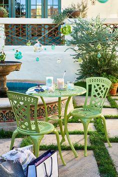 Patio Furniture Sets, Furniture Design, Furniture Ideas, Garden Furniture, Outdoor Rooms, Outdoor Decor, Outside Patio, Aluminum Patio, Wood Patio