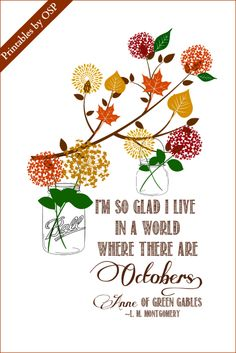 Beloved quote from Anne of Green Gables ~ Free Printable ready for instant download!
