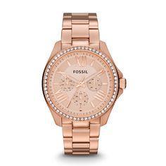 Fossil Fossil Armbanduhr – Cecile Chrono Rosegold – in rosa – Armbanduhr für Damen
