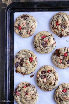 Chocolate-Dipped Strawberry Chocolate Chip Cookies