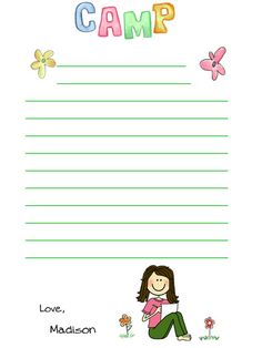 Your chances of receiving a letter may have just improved with Fine Stationery's Camp Note Pad.