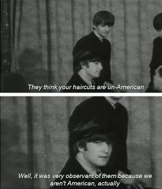 Beatles, Masters of Sass.