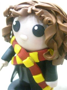 Harry Potter Hermione Granger Clay Figure/ Cake by ClayAllDay, $45.00