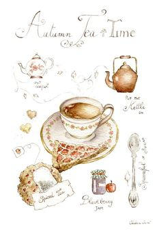 Ideas For Party Aesthetic Tea Autumn Tea, Autumn Cozy, Autumn Leaves, Cuppa Tea, Tea Art, My Cup Of Tea, High Tea, Drinking Tea, Halloween