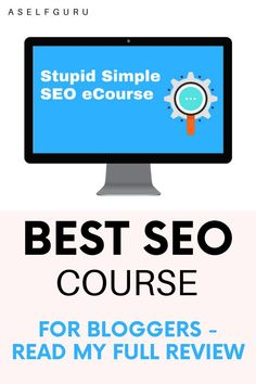 What's the best SEO course for bloggers? Stupid Simple SEO will teach you how to increase your rankings on search engines and skyrocket your traffic. Is the course worth it? Read this post to find out!   Stupid Simple SEO   Stupid Simple SEO Review   Best Blogging Courses   Search Engine Optimization   Blogging Courses Tips   Search Engine Optimization Tips   SEO Tools Search Engine Optimization   SEO for Beginners   SEO for Bloggers   SEO Tips   #StupidSimpleSEO #BloggingCourses #SEOTips Make Money Blogging, Make Money From Home, Make Money Online, Email Marketing Services, Affiliate Marketing, Online Business, Business Tips, Blogging For Beginners, Online Jobs
