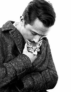 Joseph Gordon-Levitt, man is so fine and loving on a kitten!!! Ahhh!!! In love
