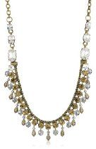 """Sorrelli """"Stardust"""" Convertible Rope Chain Clear and Light Gold Crystal Strand Necklace"""