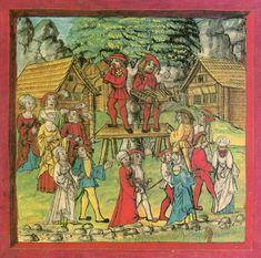 Diebold Schilling der Jüngere, Lucerne Chronicle, Carnival dance in Schwyz
