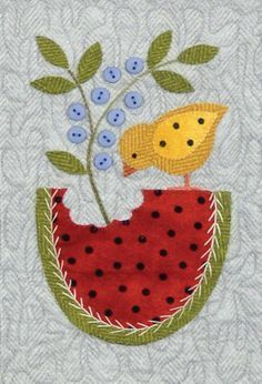 Shabby Fabrics is an online quilting shop for fabric, notions, patterns, & kits. Motifs Applique Laine, Bird Applique, Wool Applique Patterns, Applique Quilts, Applique Designs, Quilt Patterns, Flannel Quilts, Wool Quilts, Penny Rugs