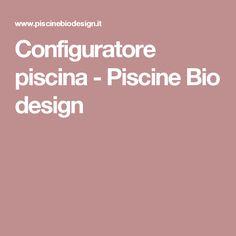Configuratore piscina - Piscine Bio design