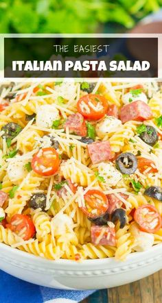 Best Pasta Salad, Summer Pasta Salad, Pasta Salad Italian, Pasta Salad Recipes, Superfood Recipes, Pasta Dishes, Food Dishes, Side Dishes, Beef Recipes