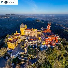 Amazing Pena Palace in Sintra just 30 minutes from Lisboa. Considered to be Europe's best castle by European Best Destinations. Thank you @rccam! great shot #lisboa #lisbon @lisboalive #sintra #portugal #fairytale