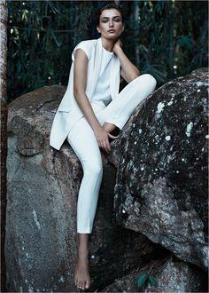 mango summer 2014 catalogue22 Andreea Diaconu Relaxes in Mango Summer 14 Catalogue