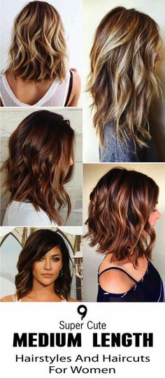 here are 9 Super Cute Medium Length Hairstyles And Haircuts For Women. No matter. - - here are 9 Super Cute Medium Length Hairstyles And Haircuts For Women. No matter how you wear your dresses, medium length hair gives you great styling. Cute Medium Length Hairstyles, Haircut For Medium Length Hair, Layered Haircuts For Medium Hair, Long Bob Haircut With Layers, Hairstyles For Medium Length Hair With Layers, Long Length Hair, Medium Hair Cuts, Medium Length Hair Cuts With Layers, Medium Hair Styles For Women