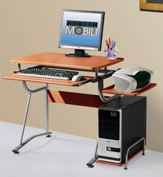 Home Office Furniture: Choosing The Right Computer Desk Floating Computer Desk, Computer Desk Design, Simple Computer Desk, Home Office Computer Desk, Home Office Furniture, Floating Desk, Small Room Desk, Small Bedroom Storage, Desks For Small Spaces
